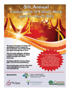 Canton Acts of Culture Week 2015 Flyer (2)